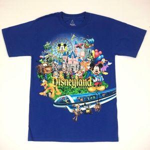 Disneyland Resort Blue Graphic T-shirt Sz S